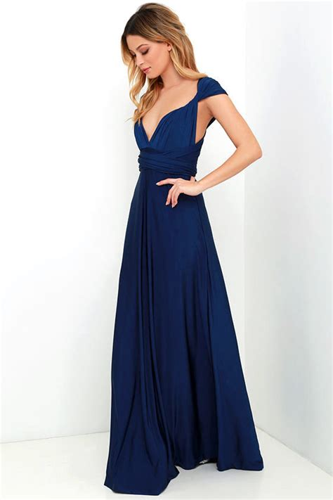 maxi infinity dress pretty maxi dress convertible dress navy blue dress