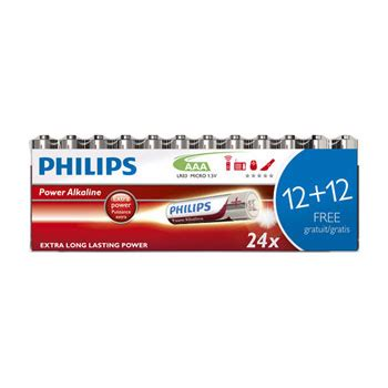Battery Baterai Philips Alkaline High Power Original 100 Isi 4 Pcs 24 pack philips power alkaline aaa batteries lr03p24f 10 image 1