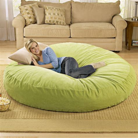 giant couch pillows giant bean bag chair lounger alldaychic