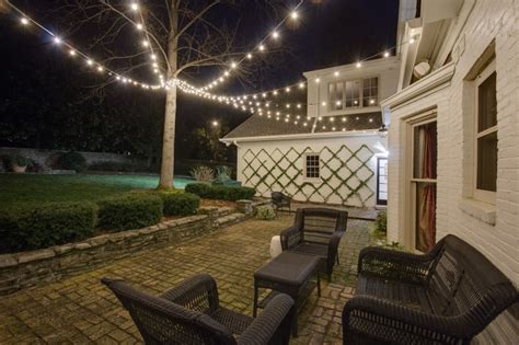 backyard string lights festive string lighting residential commercial