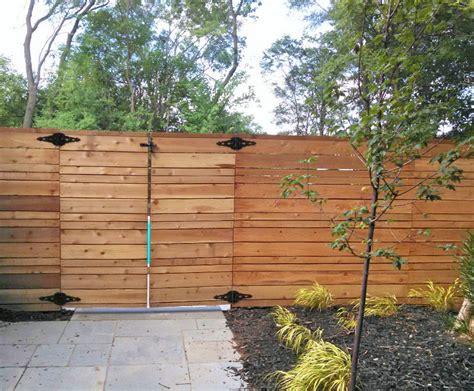 Horizontal Wood Fence Design Modern Horizontal Cedar Fence Line Fence