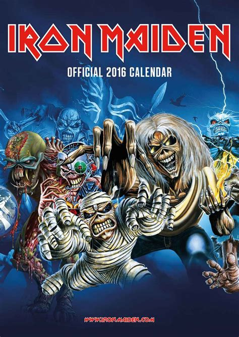 Calendar 2018 Not On The High Iron Maiden Calendars 2018 On Europosters