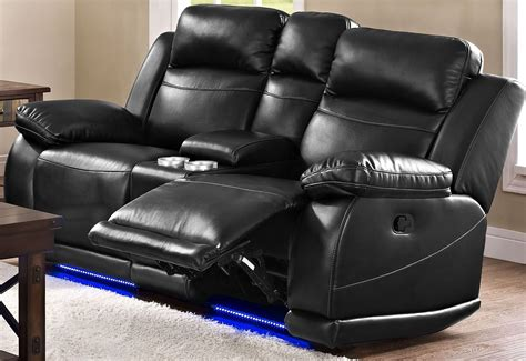 dual power reclining loveseat with console premier black dual power reclining console loveseat