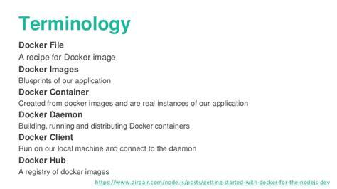 docker tutorial node getting started with docker for the nodejs developer