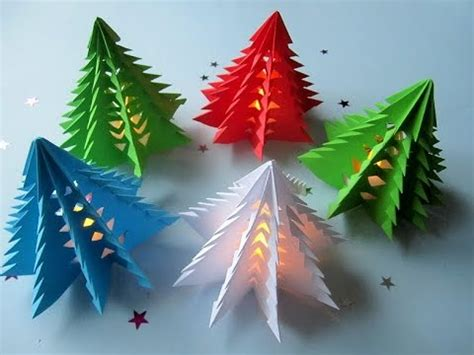 3d weihnachtsbaum selber basteln diy papier youtube