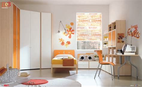 orange and white bedroom modern kids room furniture from dielle
