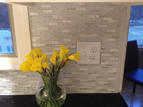 glass marble backsplash modern boston by fowler