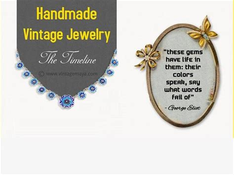 Handmade Infographics - an infographic on handmade vintage jewelry authorstream