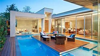 House With Pool by This Australian House Has A Pool With An Island And