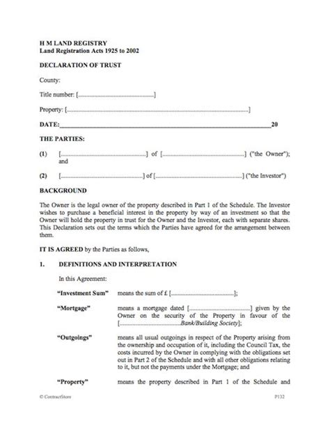 Ownership Agreement 75 Main Group Joint Ownership Agreement Template