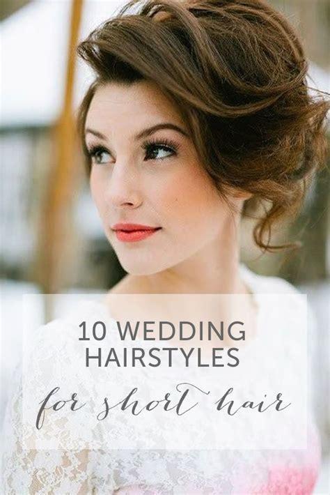 hairstyles for short hair com 10 wedding hairstyles for short hair bryllup og h 229 r
