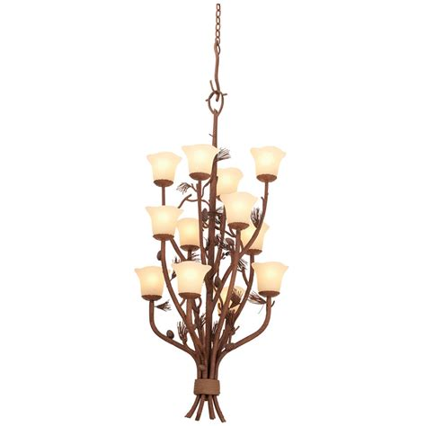 Entryway Chandelier Lighting Rustic Chandeliers Ponderosa Foyer Chandelier With Glass Shades With 12 Lights Black Forest Decor