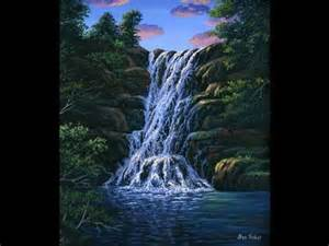 24 part 1 how to paint a waterfall with acrylics on