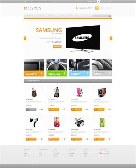 opencart responsive templates responsive electronics store opencart template 45746 by