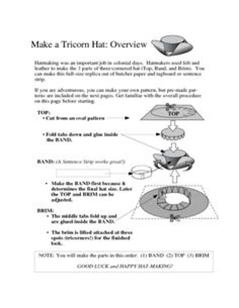 How To Make A Colonial Hat Out Of Paper - how to make a tricorn hat hats how to make an and how
