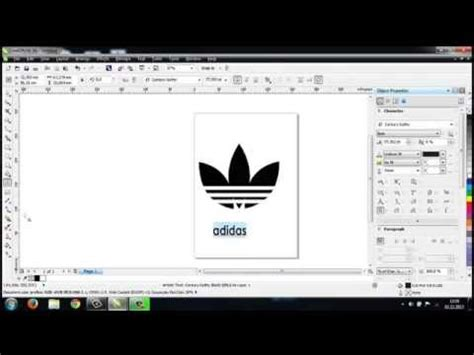 tutorial logo adidas coreldraw full download how to make adidas logo with corel draw