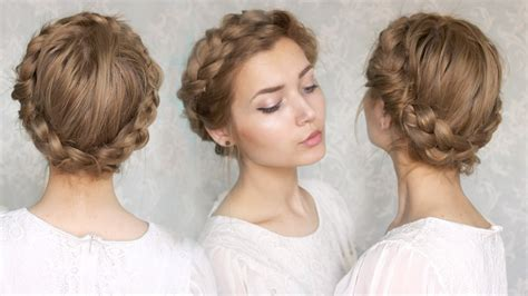 halo extensions short hair updoos the halo braid tutorial youtube