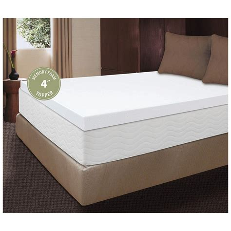 memory foam futon mattress topper visco 174 4 inch memory foam mattress topper