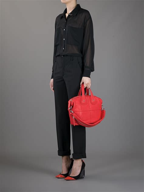 Givenchy Nightiangle Mini Semprem givenchy small nightingale tote in lyst