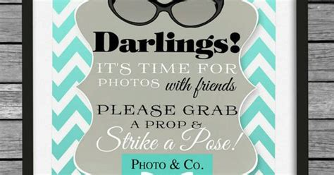breakfast at tiffany s photo booth props printable tiffany co inspired photo booth sign tiffany sign
