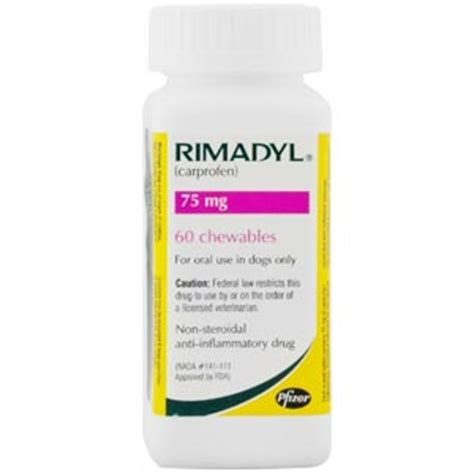 rimadyl 75mg for dogs rimadyl carprofen for dogs 75 mg 60 chewable tablets vetdepot
