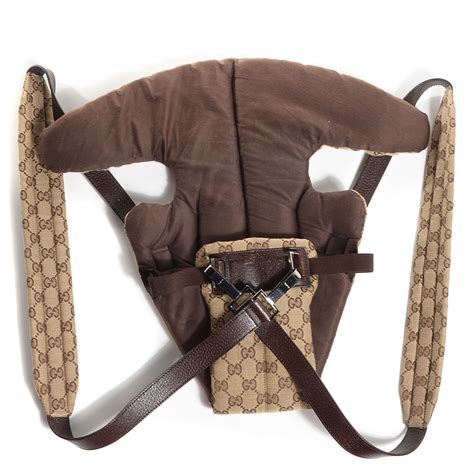 Gucci Baby Carrier Favorite by Gucci Monogram Baby Carrier Brown 83527