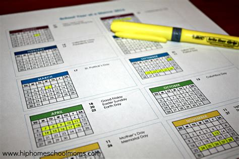 printable calendar 2014 year at a glance the benefits of homeschooling year round with free