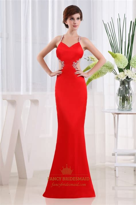 prom dresses cut out open back prom dresses beaded mermaid prom