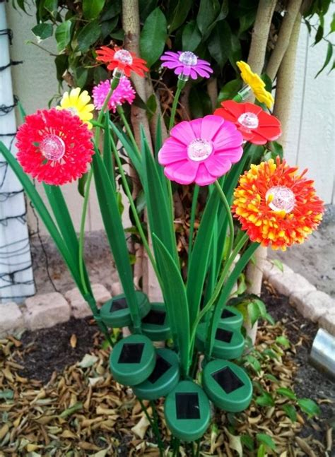 solar flower lights artificial flowers with solar powered lights for gardens
