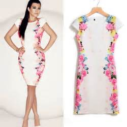 Wall Stickers Buy puscard women floral print dress white dress short sleeve