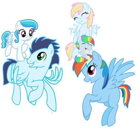 Piyama Magic V Kid rainbow dash s family by littlesnowyowl on deviantart