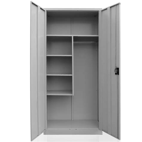 Metal Wardrobe Cabinet by Cleaning Supplies Cabinet Steel Broom Closet Linen