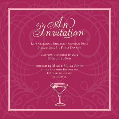 Event Invitation Card Template by Invitation Card Template In Honor Of