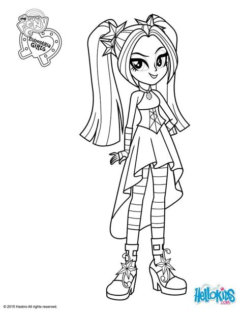 My Little Pony Equestria Girls Coloring Pages My Pony Equestria Coloring