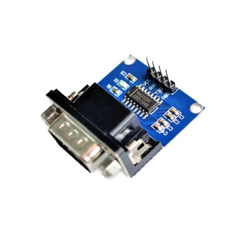 Max3232 Rs232 To Ttl Serial Port Converter Module Db9 Connector 10pcs lot max3232 rs232 to ttl serial port converter