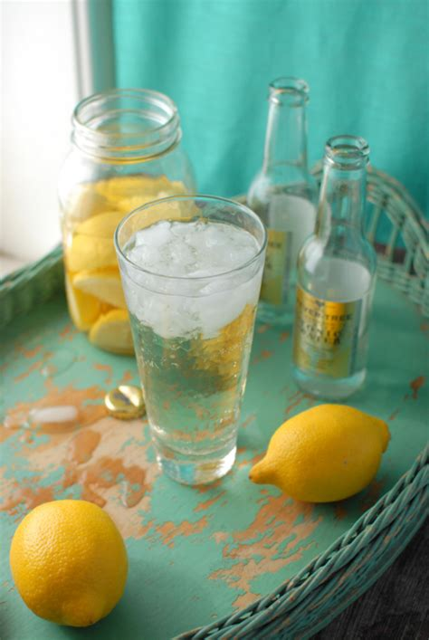 vodka tonic lemon homemade lemon infused vodka