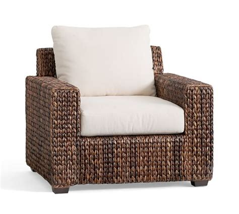 seagrass square armchair pottery barn