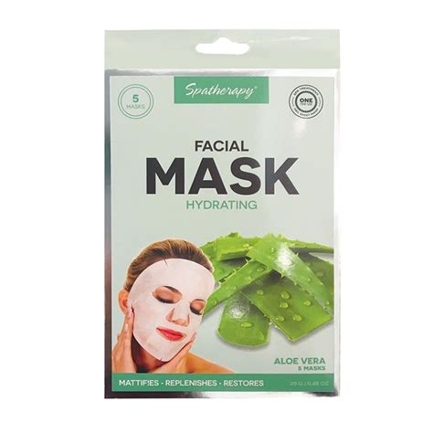 5 pack hydrating mask with aloe vera