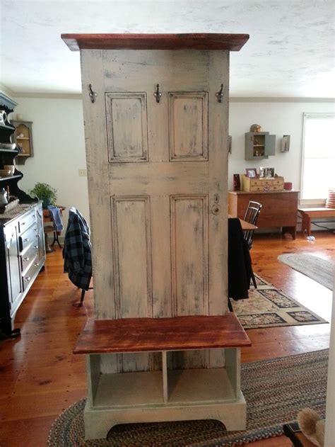 diy hall tree bench diy furniture door hall tree made from an antique door