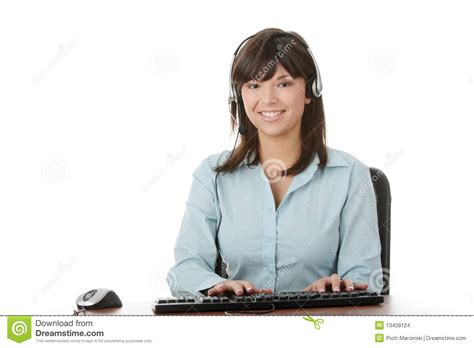www housebeautiful com customer service young beautiful customer service operator stock images