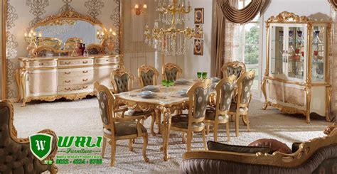 Set Meja Makan Klasik 1 set meja makan mewah klasik ukir mebel jepara terbaru