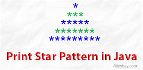 triangle pattern in java using for loop print star pattern in java print triangle of star in