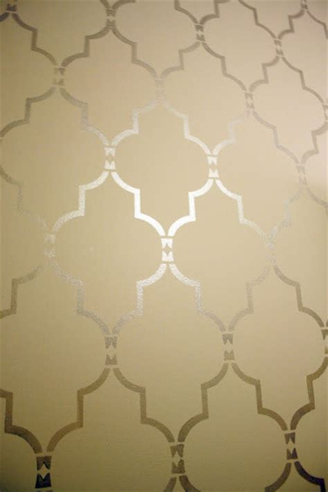 wall stencil template stenciling tutorial using marrakech trellis allover