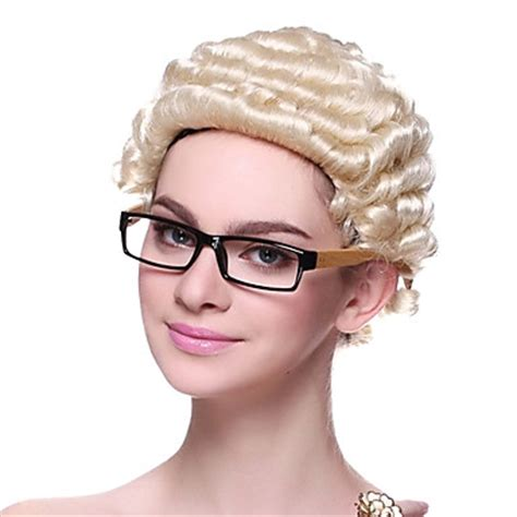 hair for attorneys high quality capless synthetic short curly lawyer s hair