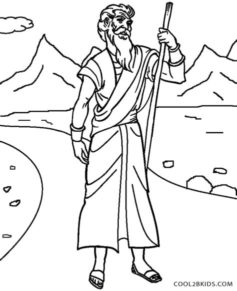 free coloring pages of moses
