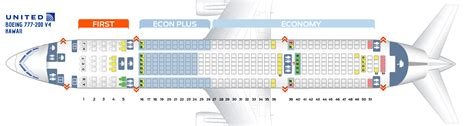 united 777 200 seat map seat map boeing 777 200 united airlines best seats in plane