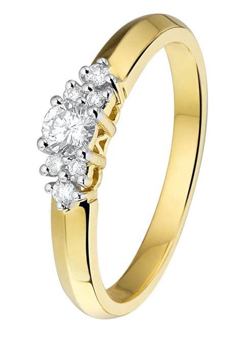 Ring Diamant by Geelgouden Ring Met Diamant Lucardi Nl