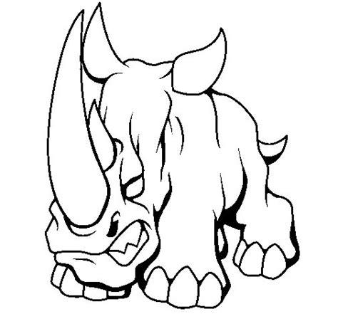 imagenes para colorear rinoceronte dibujo de rinoceronte ii para colorear dibujos net
