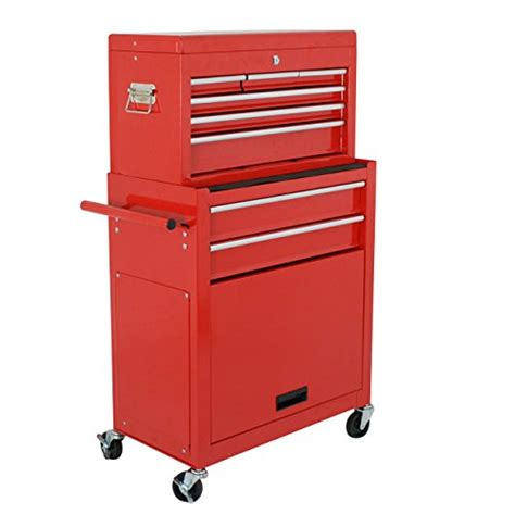 6 drawer cabinet on wheels super deal heavy duty 23 5 quot red metal tool chest tool box