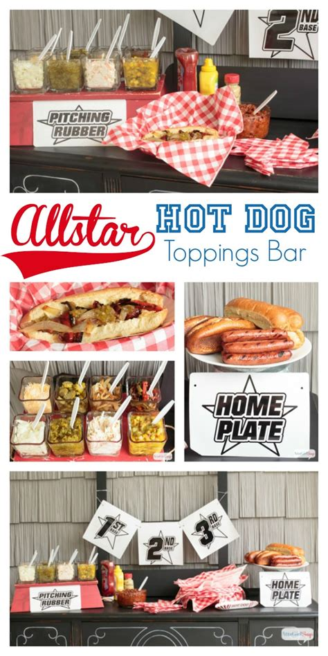 hot dog toppings bar home matters linky party 47 no time for diy